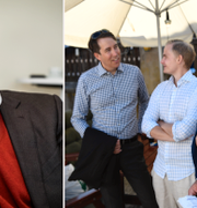 Sverigedemokraterna presenterar sin valstrategi. Partisekreterare Richard Jomshof (SD), informationschef Henrik Gustafsson och Mattias Karlsson TT