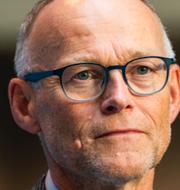 Statsepidemiologerna Frode Forland och Anders Tegnell.  TT