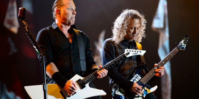 James Hetfield och Kirk Hammett. Jonathan Short / TT / NTB Scanpix