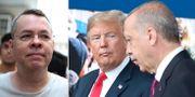 Brunson/Trump och Erdogan. TT