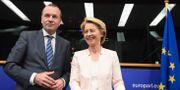 Manfred Weber och Ursula von der Leyen.  FREDERICK FLORIN / AFP