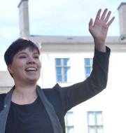 Annika Hirvonen Falk (MP) ledamot av migrationskommittén och migrationsminister Morgan Johansson (S).
