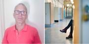 Sören Claesson och en skolkorridor. TT/Privat