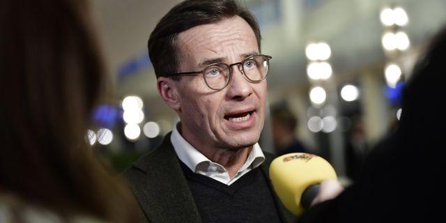Ulf Kristersson (M). Stina Stjernkvist/TT / TT NYHETSBYRÅN