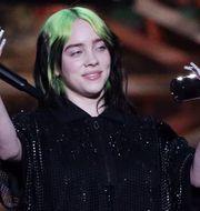 Billie Eilish var en av fjolårets mest spelade artister på Spotify. HANNAH MCKAY / TT NYHETSBYRÅN