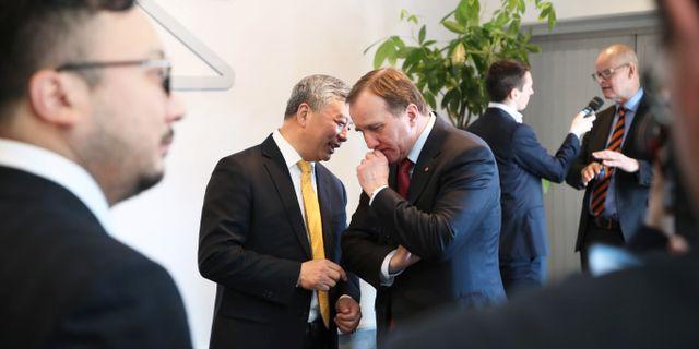 Nevs grundare tillsammans med statsminister Stefan Löfven.  Adam Ihse/TT / TT NYHETSBYRÅN