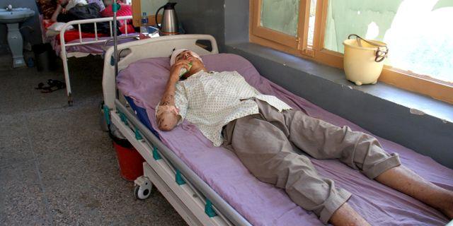 Skadade på sjukhus efter drönarattacken i Nangarhar Wali Sabawoon / TT NYHETSBYRÅN