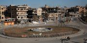 Arkivbild. Torget Naim i Raqqa.  Hussein Malla / TT / NTB Scanpix