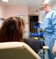 Bild från infektionskliniken i Kalmar. Mikael Fritzon/TT / TT NYHETSBYRÅN