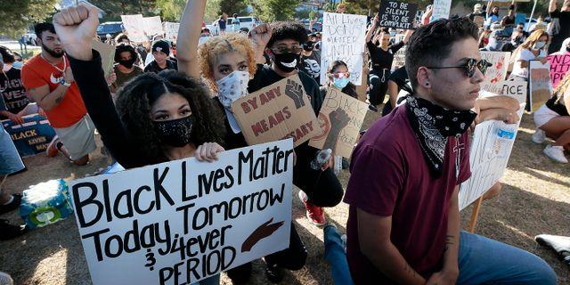 Protester i El Paso, Texas. mark MARK LAMBIE / TT NYHETSBYRÅN