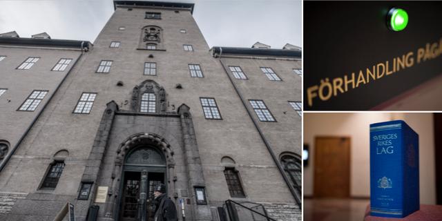 Bilder från Stockholms tingsrätt. TT