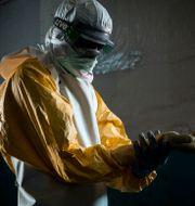 Illustrationsbild från ebolautbrottet i Kongo-Kinshasa.  JOHN WESSELS / AFP