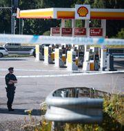 Polisavspärrning efter mordet i Botkyrka 2 augusti.  Naina Helén Jåma/TT / TT NYHETSBYRÅN
