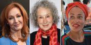 J.K Rowling, Margaret Atwood och Zadie Smith. TT