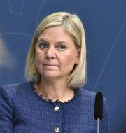 Arkivbild: Finansminister Magdalena Andersson (S).  Claudio Bresciani/TT / TT NYHETSBYRÅN