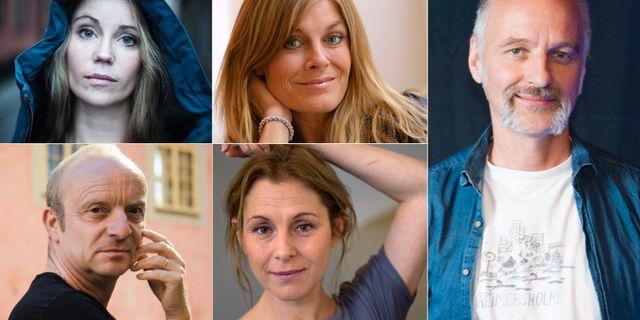 På bilden: Björn Kjellman, Pernilla Wahlgren, Jonas Gardell, Sofia Helin och Helen Sjöholm.   TT