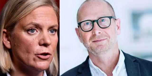 Magdalena Andersson och Håkan Tenelius.