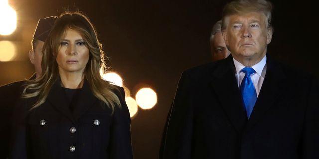 Donald och Melania Trump. JONATHAN ERNST / TT NYHETSBYRÅN