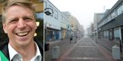 Per Bolund (MP) t.v. Härnösand t.h. TT