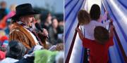 Lasse Stefanz och barn på Tom Tits. TT