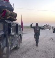Irakiska soldater utanför Kirkuk. TT