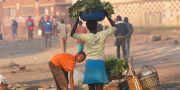 En flicka och en pojke vid ett stånd i Harare, Zimbabwe. Tsvangirayi Mukwazhi / TT NYHETSBYRÅN/ NTB Scanpix
