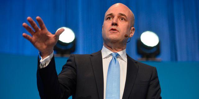 """Fredrik Reinfeldts (M) """"öppna era hjärtan""""-strategi ställde väljarkåren utan valmöjligheter, menar statsvetaren. HENRIK MONTGOMERY / TT / TT NYHETSBYRÅN"""