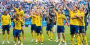 Larsson och Krafth i startelvan mot England.  PETTER ARVIDSON / BILDBYR N