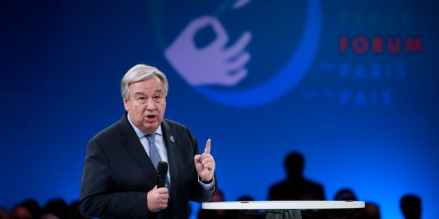 FN:s generalsekreterare António Guterres. Arkivbild. Gonzalo Fuentes / TT NYHETSBYRÅN/ NTB Scanpix
