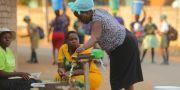 Kvinnor i Harare i Zimbabwe tidigare i år.  Tsvangirayi Mukwazhi / TT NYHETSBYRÅN/ NTB Scanpix