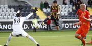Häckens Paulinho Paulo José de Oliveira gör 1-0 mot AFC Eskilstuna. Thomas Johansson/TT / TT NYHETSBYRÅN
