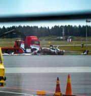 Bärgning av vraket efter olyckan/Illustrationsbild TT