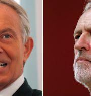 Tony Blair, Jeremy Corbyn.  TT