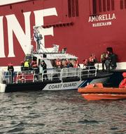 Räddningsarbetet vid Amorella. Västra Finlands sjöbevakningssektion