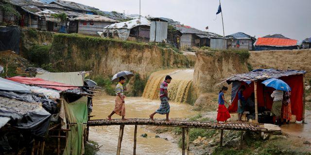 Flyktingläger i Bangladesh. Altaf Qadri / TT NYHETSBYRÅN