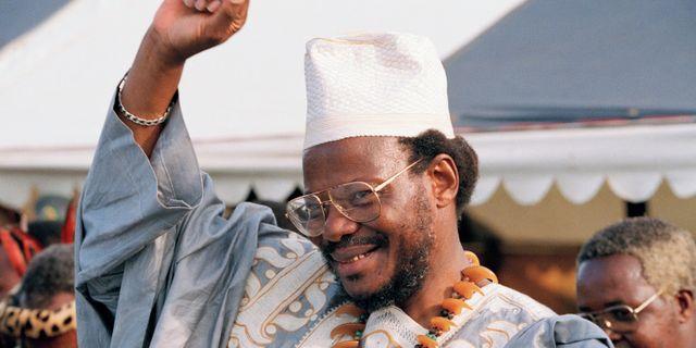 Mangosuthu Buthelezi 1995. Joao Silva / TT NYHETSBYRÅN