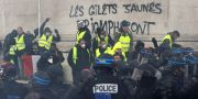 Gula västarna under protester den 1 december  GEOFFROY VAN DER HASSELT / AFP