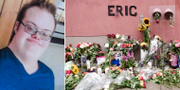 Eric Torell och en minnesplats för honom.  TT