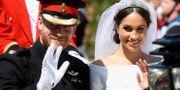 Prins Harry och Meghan Markle på bröllopsdagen. Chris Jackson / TT NYHETSBYRÅN