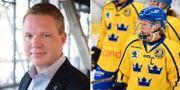 Svenska ishockeyförbundets ordförande Anders Larsson. Damkronorna. TT