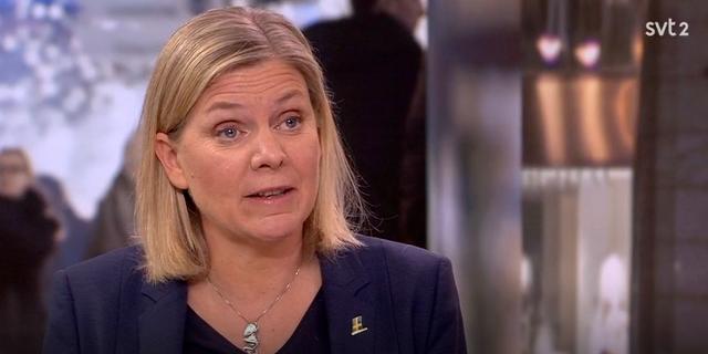 Magdalena Andersson. SVT