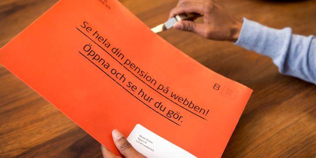 Oklart om pension trots orange kuvert