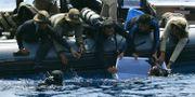 Arkivbild: Dykare hittade den första svarta lådan i början av november ADEK BERRY / AFP