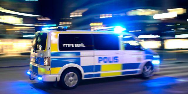 Polisbil.  Janerik Henriksson/TT / TT NYHETSBYRÅN