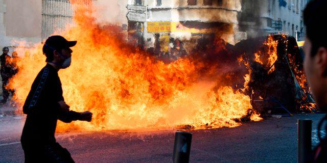 Våldsamma protester har även spritt sig till bland annat Marseille. GERARD JULIEN