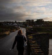 Arkivbild: Gränsen mellan Irland och Nordirland i staden Clady David Goldman / TT NYHETSBYRÅN