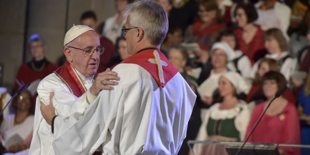 Trafikkaos i lund infor pavens besok