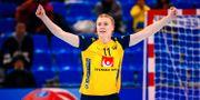 Johanna Forsberg jublar. LUDVIG THUNMAN / BILDBYRÅN
