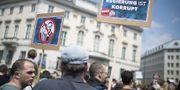 Demonstrationer i Wien på lördagen. TT