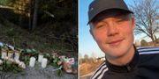 Ljus vid platsen för olyckan/Emil. TT/Privat